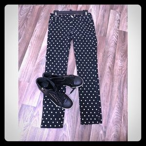 White House Black Market Women's Polka Dot pants